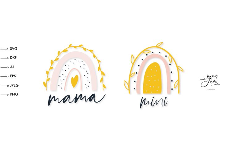 mama and mini SVG, Girl Mama SVG, Mothers day shirt svg example image 1