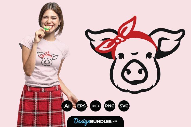 Farm Animals with Bandana for T-Shirt Design example image 1