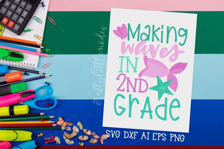 2nd Grade Mermaid | Mermaid Svg | Back To School