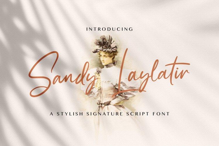 Sandy Lailyatir - Handwritten Font example image 1
