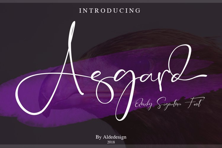 Asgard Signature Font example image 1