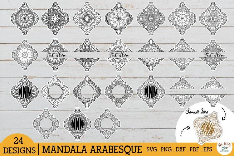 Arabesque mandala bundle SVG, Arabesque Mandala monogram SVG