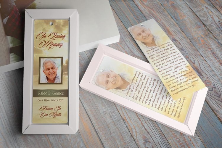 Forever Funeral Bookmark Template example image 1