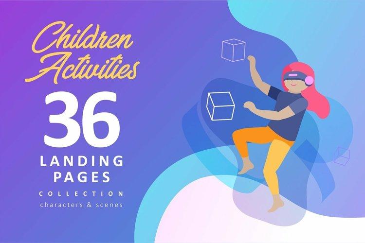 Children activitys. Landing pages