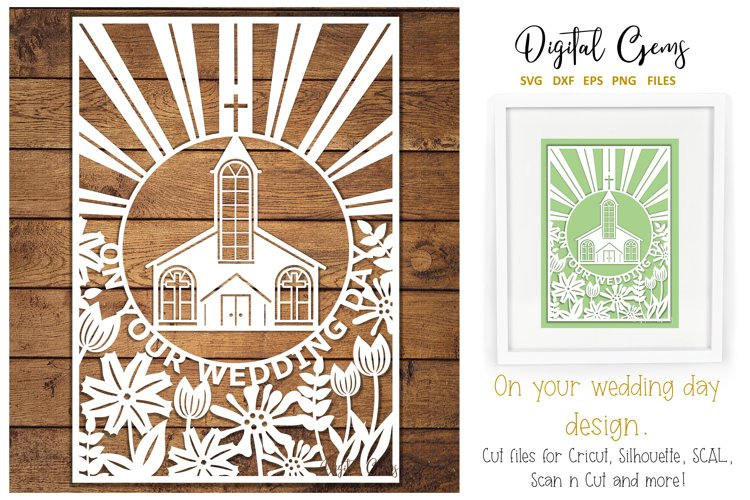 Wedding paper cut SVG / DXF / EPS / PNG files example image 1
