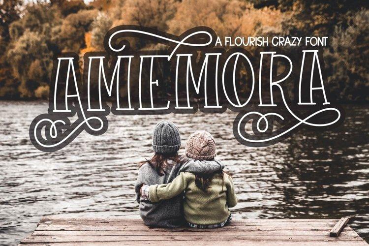 Web Font Amamora example image 1