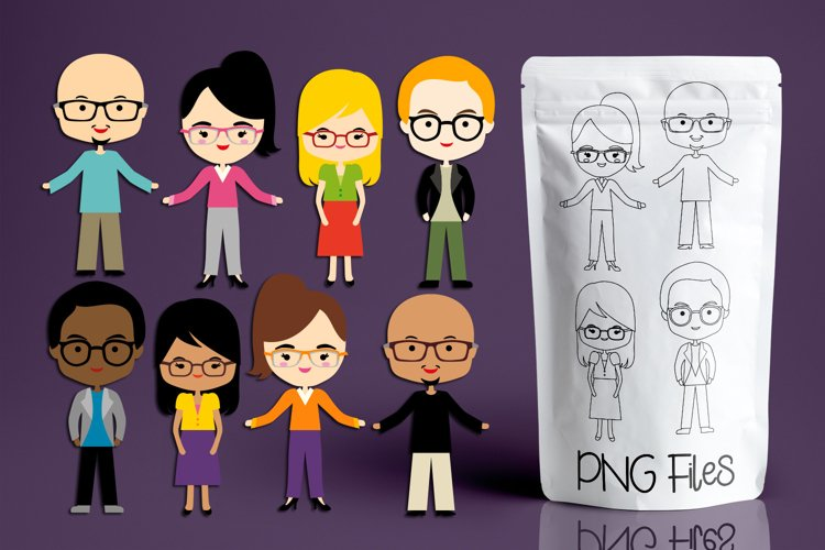 People with glasses - character illustrations