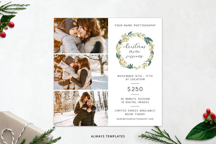 Christmas Mini Sessions Template PM014 example image 1