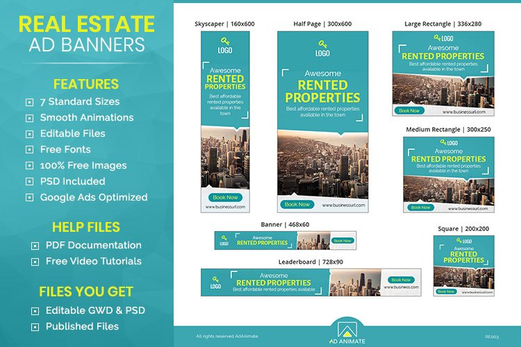 Rented Property Banner - Html5 Animated Ad Template example image 1