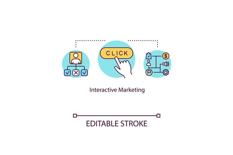 Interactive marketing concept icon example image 1