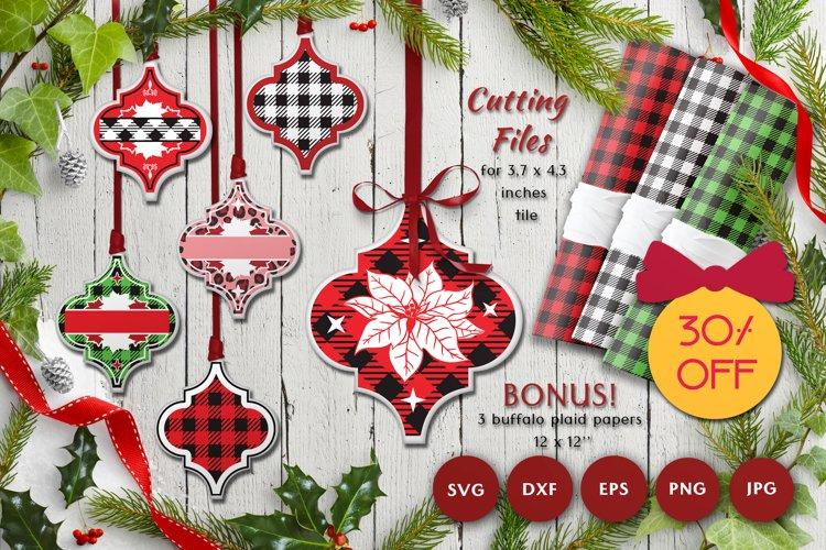 Christmas Arabesque SVG Bundle | Plaid patterns example image 1