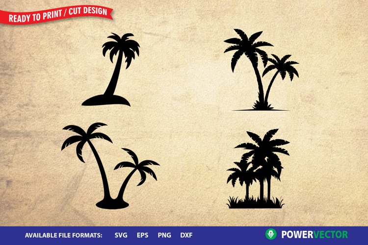 Palm Tree SVG  Cutting Clipart for Cricut, Silhouette
