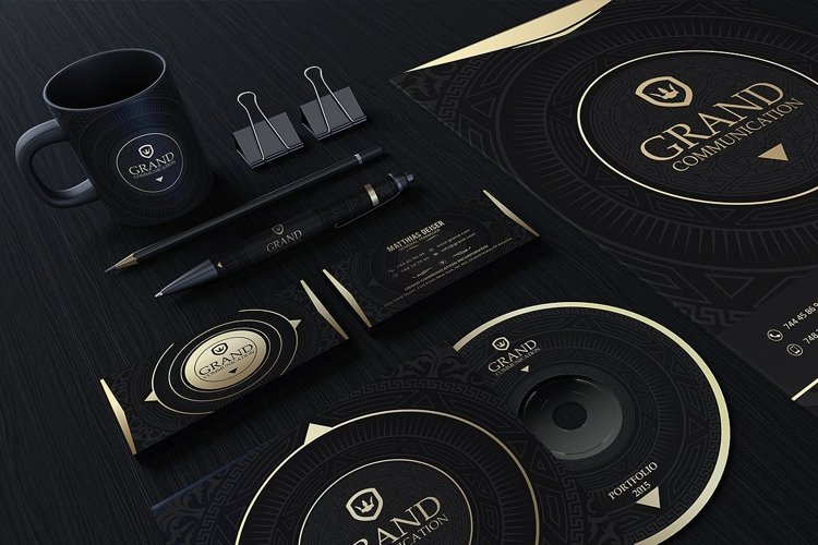 Gold And Black Corporate Identity example image 1