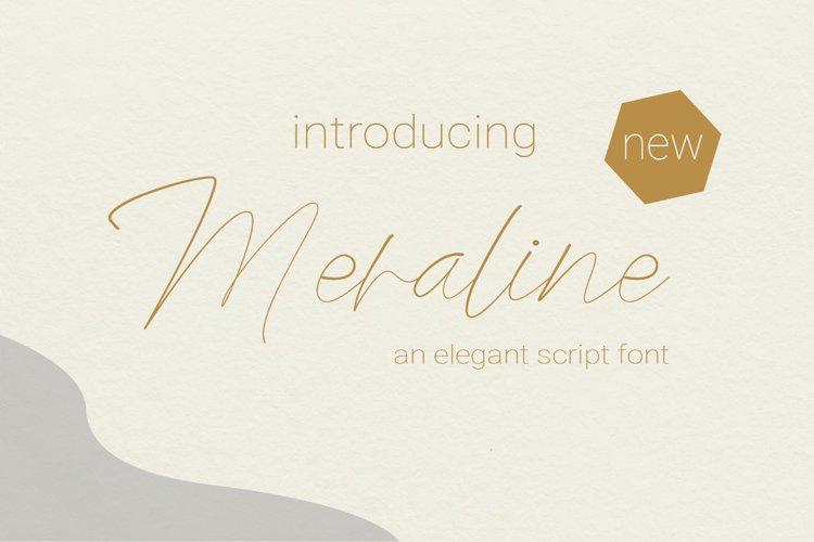 Meraline | Elegant Script example image 1