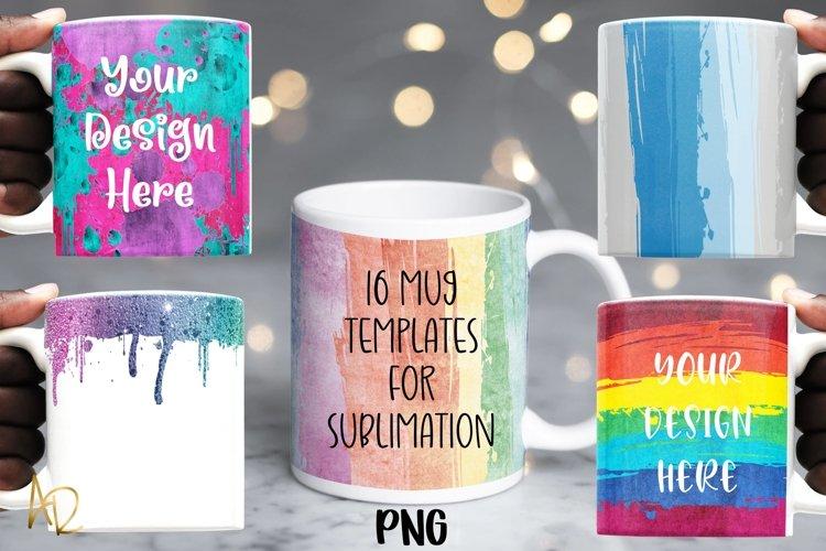 Mug Template Backgrounds for Sublimation PNG Bundle