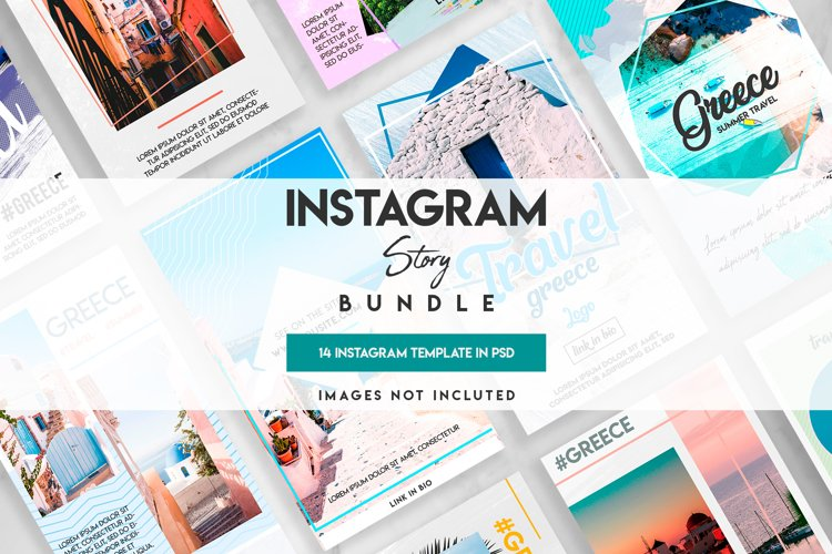Social Media instagram travel template example image 1