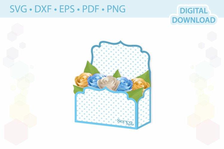Envelope box Flower display box template .svg .dxf .eps .pdf