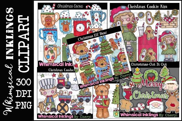 Sweet Christmas -Huge Christmas Clipart Bundle example image 1