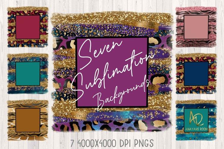 Leopard Print Sublimation Backgrounds & PNG Templates