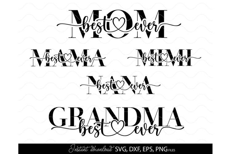 Mother Day svg Mom svg MAMA svg Mothers day svg NINI svg example image 1