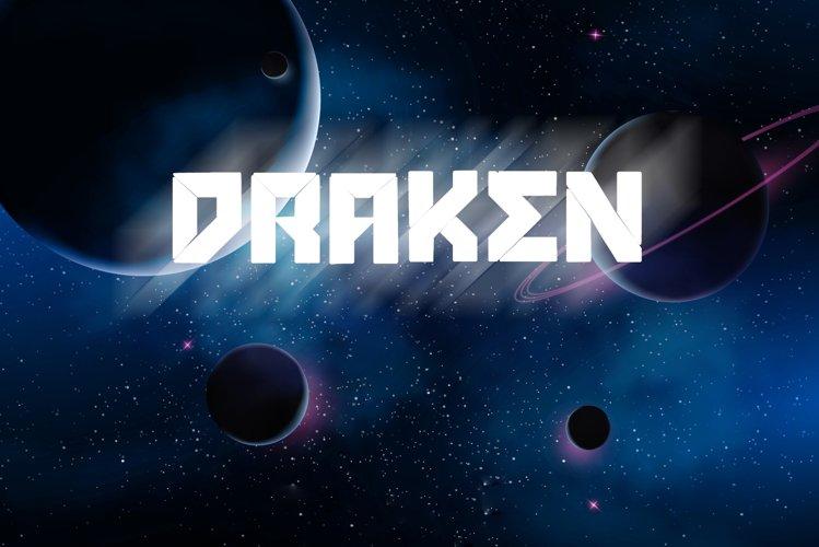 Draken Sci Fi Font example image 1