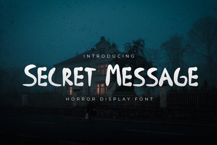 Secret Message - Horror Display Font example image 1