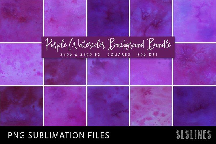 Purple Watercolor Squares Bundle PNG Sublimation