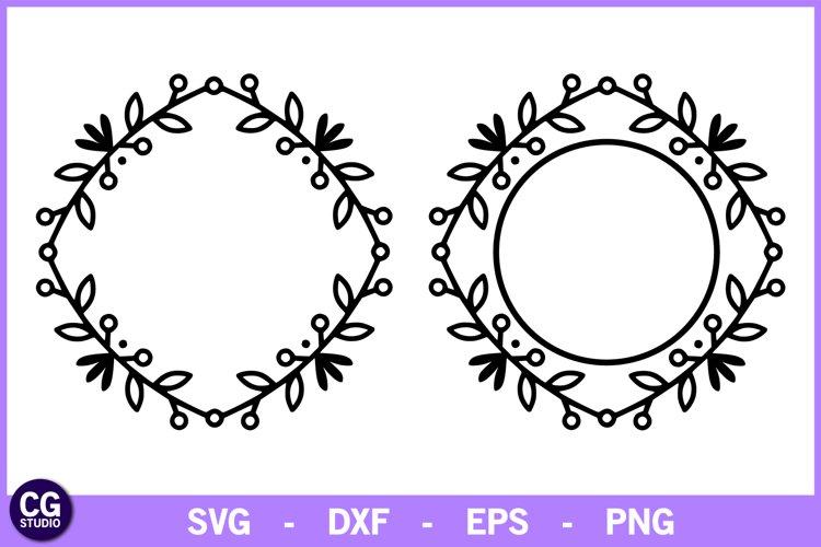 2 Tribal monogram frames SVG example image 1