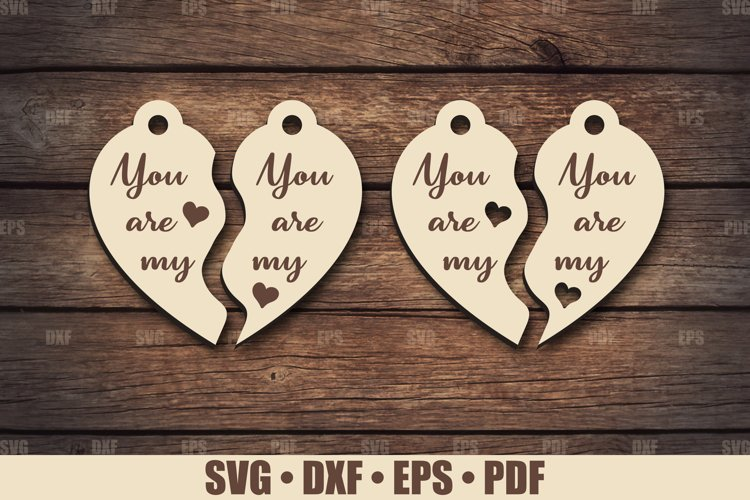 Keychains SVG Glowforge file, You are My Keychain SVG files example image 1