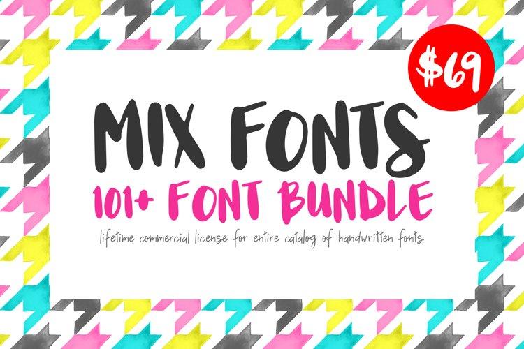 Mix Fonts - 120 Plus Font Bundle example image 1