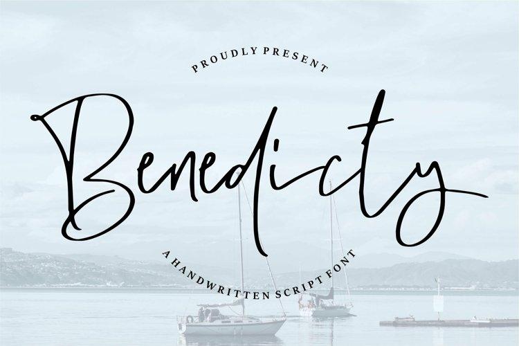Web Font Benedicty - Handwritten Script Font example image 1