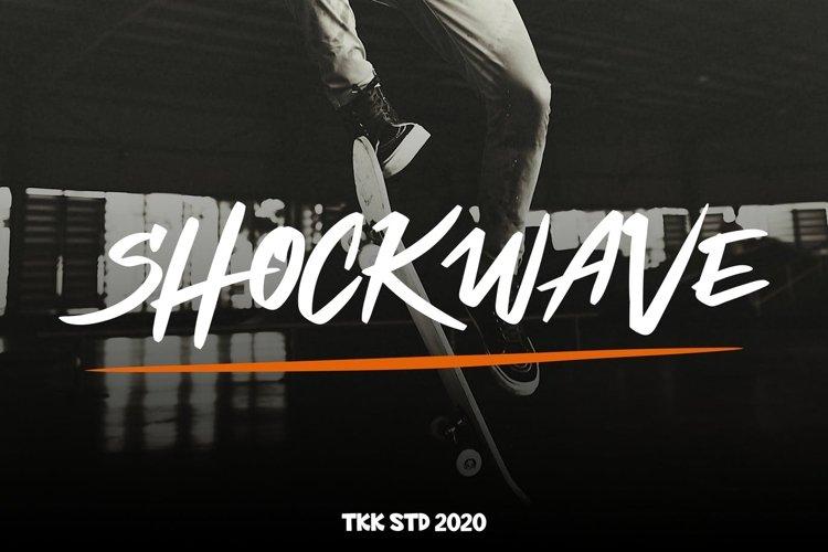 Shockwave - Graffiti Font example image 1
