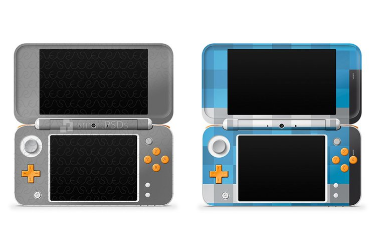 Nintendo 2DS XL 2017 Skin Decal Design Template 2013 example image 1