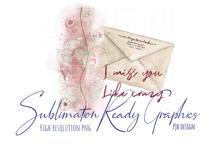 Miss You Like Crazy Card Design And Sublimation Ready