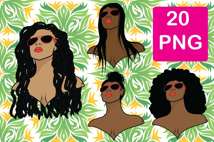 Women of Many Skin Tones & Hairstyles /PNG Files