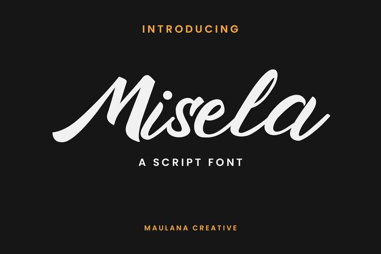 Misela Script Font example image 1