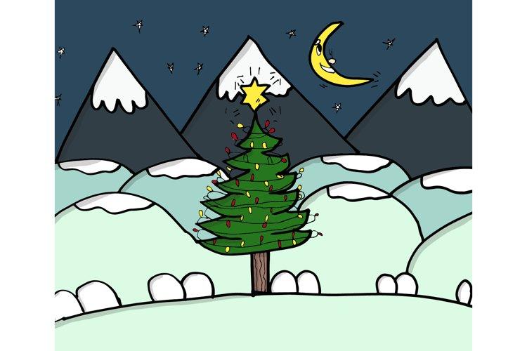 Magical Christmas Card - Winter Night