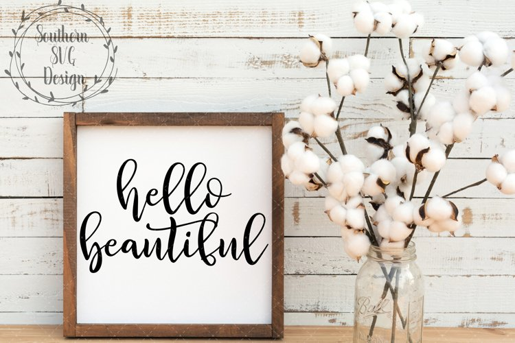 Hello Beutiful SVG file-SVG Cut File-SVG DXF PNG JPEG example image 1