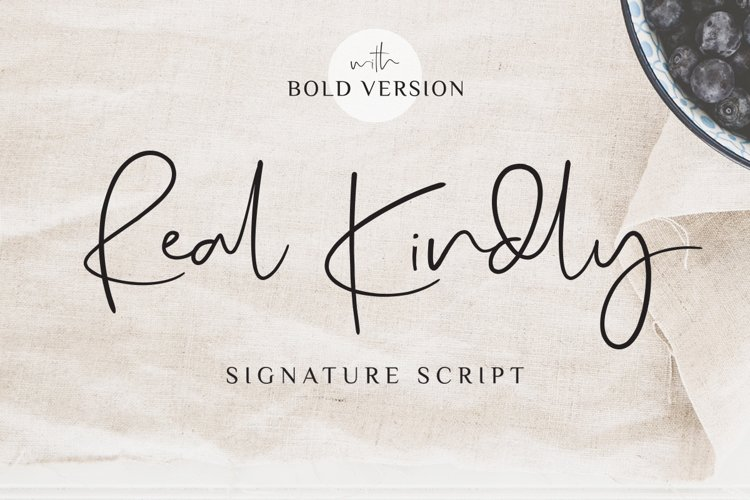 Real Kindly - Elegant Script example image 1