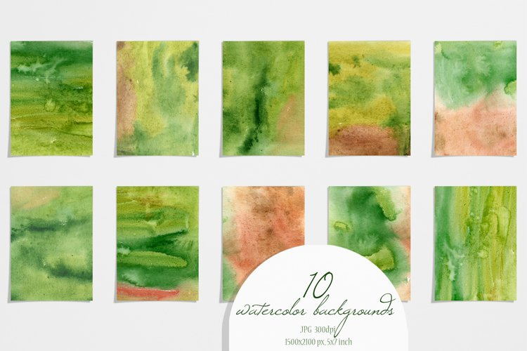 Watercolor Home Plant Clipart Set example 7