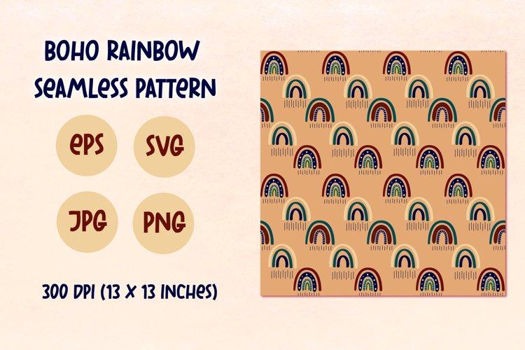 Boho rainbow, Children's rainbow seamless pattern, PNG,EPS example image 1