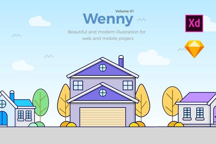 Wenny House Illustrations