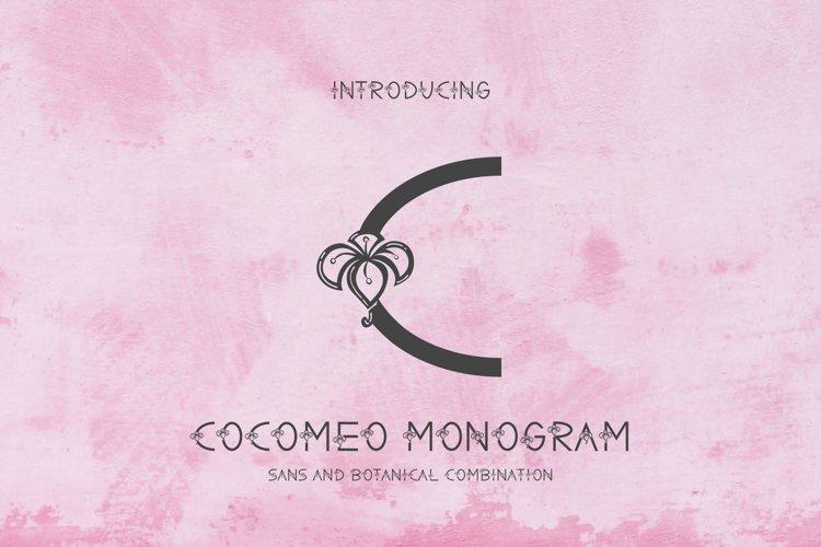 Cocomeo - Monogram Font example image 1