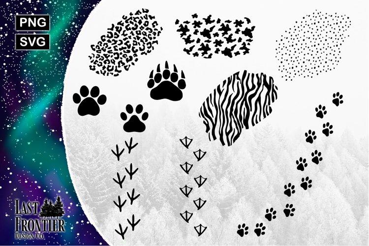 Popular Animal Print and tracks SVG