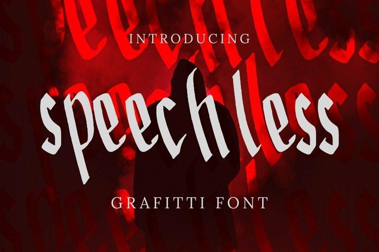 Web Font Speechless Font example image 1