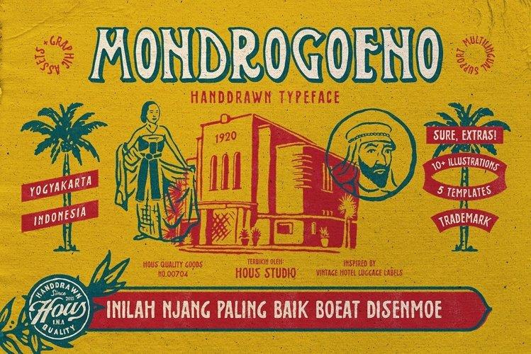 Mondrogoeno Typeface example image 1