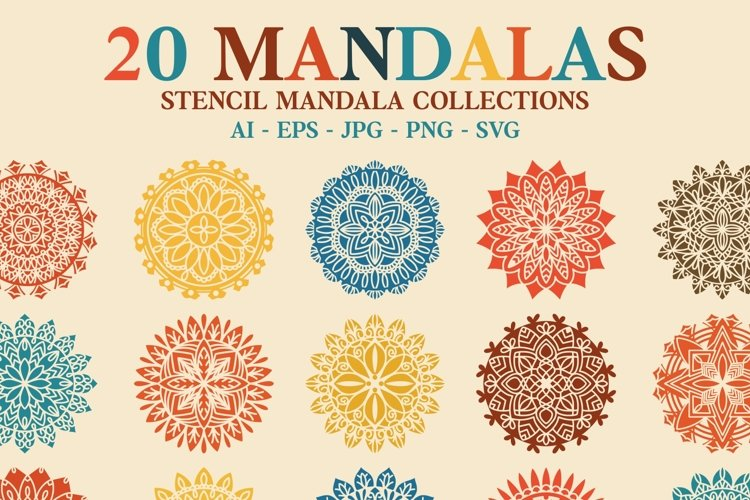 20 Mandala Stencil Collections example image 1