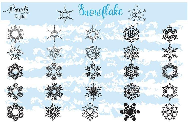 Christmas Decor Snowflake Clipart snowflake silhouette example