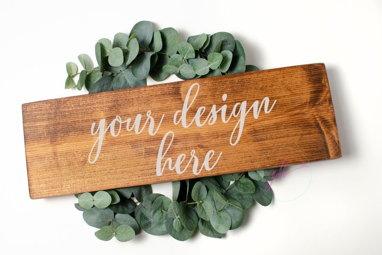 Wooden sign mockup, Sign mock up example image 1