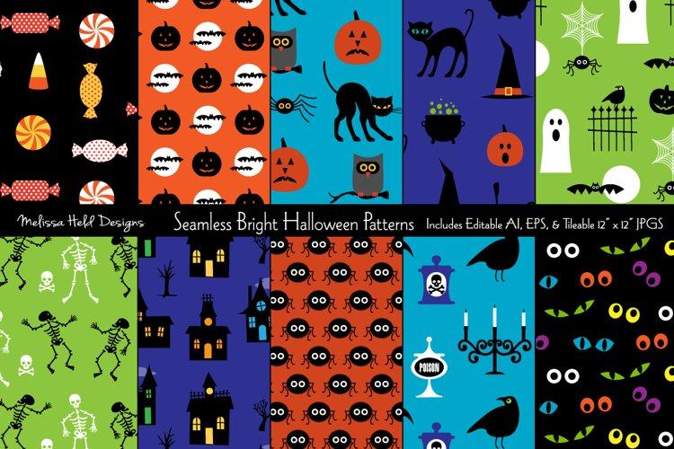 Seamless Bright Halloween Patterns
